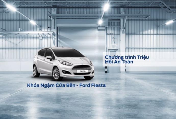 Lời Nhắc: Chương trình triệu hồi an toàn - Thay thế Khóa ngậm cửa bên xe Ford Fiesta