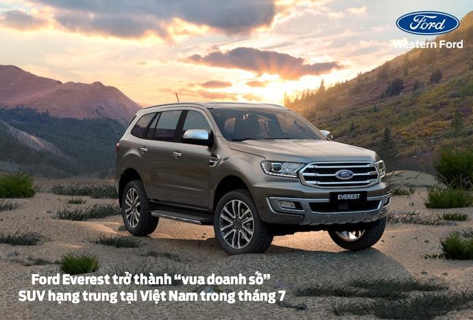 """Ford Everest bất ngờ trở thành """"vua doanh số"""" SUV hạng trung tại Việt Nam trong tháng 7"""